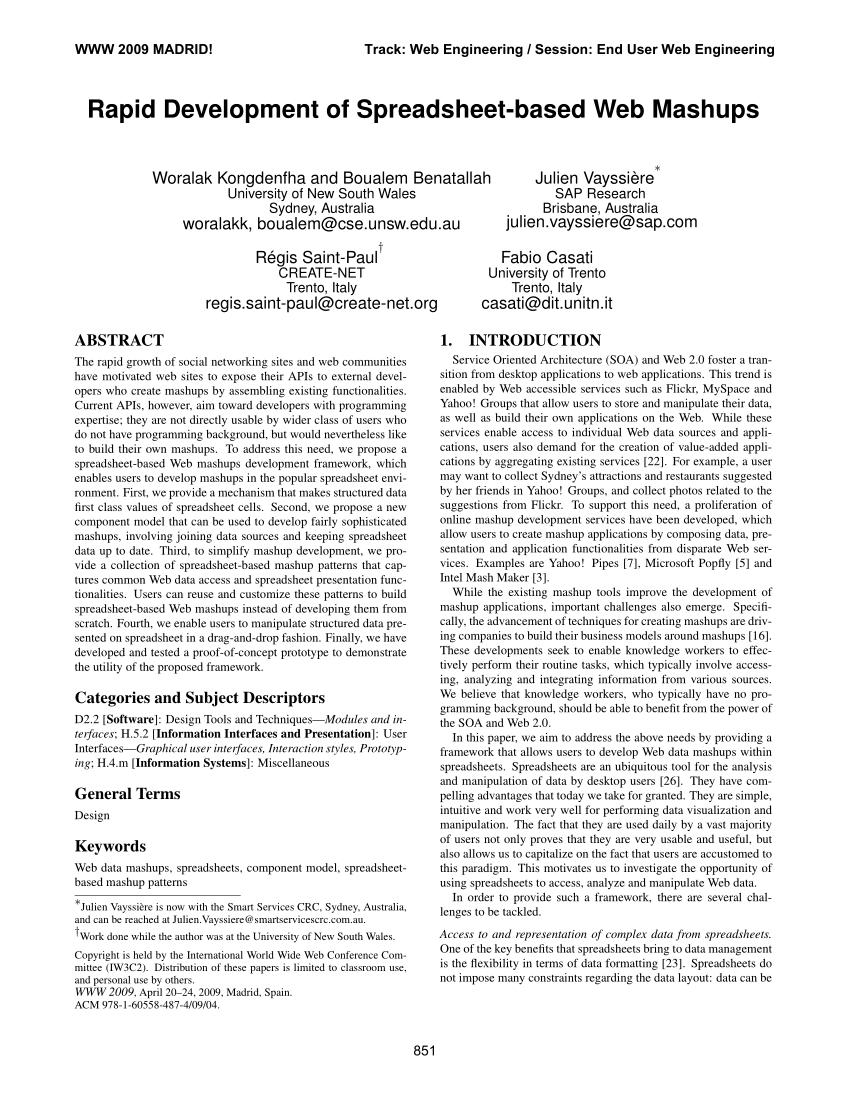 Spreadsheet Web Component Throughout Pdf Rapid Development Of Spreadsheetbased Web Mashups