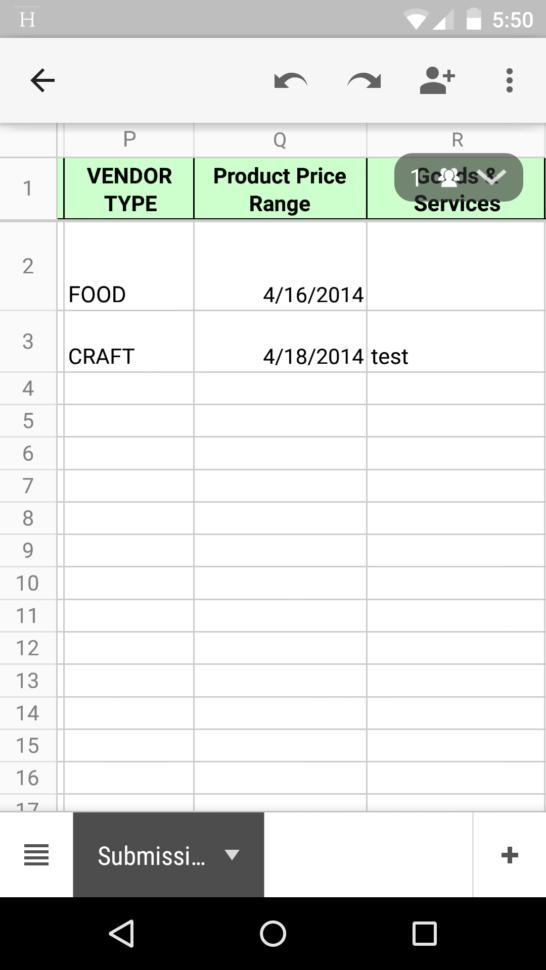 Spreadsheet Widget For Google Spreadsheet Displays The Fancy Range Slidr Widget Submission