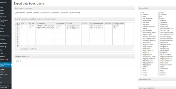 Spreadsheet Wordpress Plugin For Export Wordpress Data To Excel Or Csv Filemakerise  Codecanyon