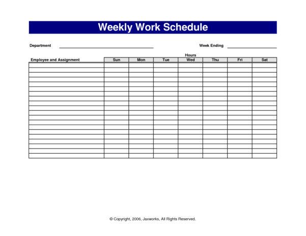 Spreadsheet Work Schedule Template For Employee Schedule Spreadsheet Template Free Printable Work Schedules