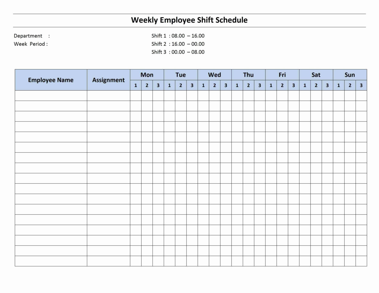Spreadsheet Work Schedule Template For Shift Work Schedule Templates Free Restaurant Template Weekly