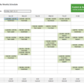 Spreadsheet Work Schedule Template Within Monthly Work Schedule Template Excel Free Employee And Shift
