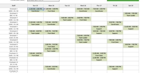 Spreadsheet Work Schedule Template Within Monthly Work Schedule Template Excel Free Employee And Shift Spreadsheet Work Schedule Template Google Spreadsheet
