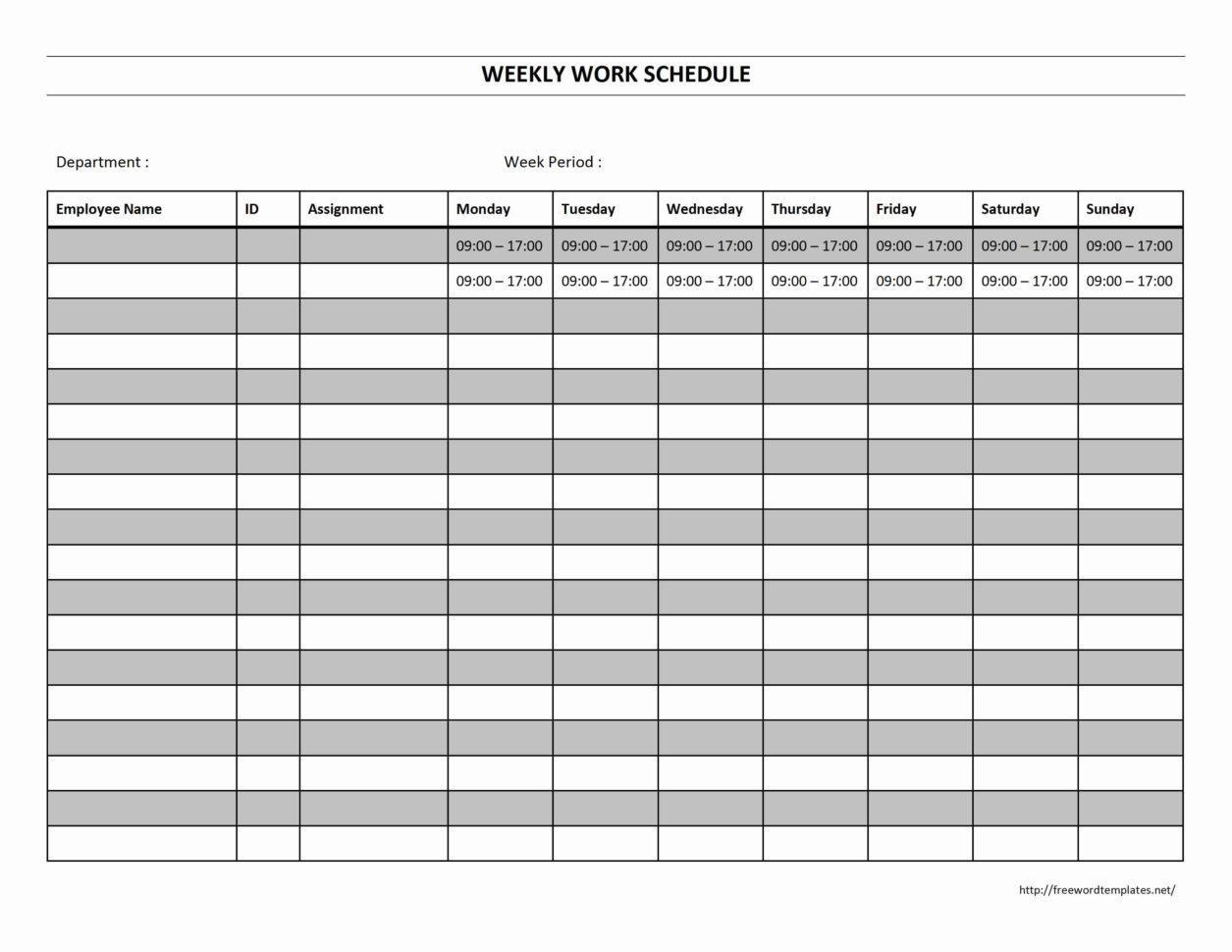 Spreadsheet Work Schedule Template Within Printable Employee Work Schedule Template And Employee Work Schedule
