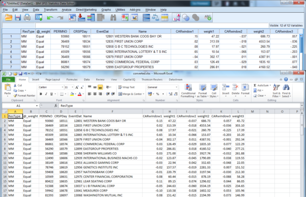 Spss Spreadsheet With Regard To Spss  Business Research Plus