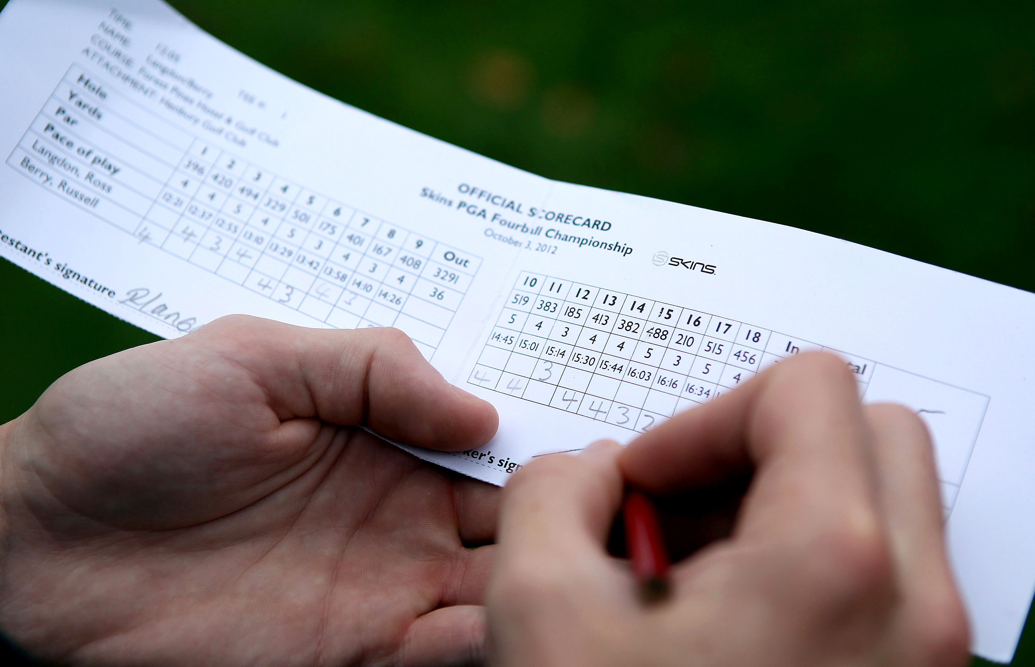 Stableford Golf Scoring Spreadsheet Regarding Golf Scorecard Rules  Simple But Important  Golf Monthly