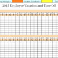 Staff Holiday Spreadsheet With Striking Employee Vacation Planner Template Excel ~ Ulyssesroom