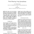Stage Storage Discharge Spreadsheet Within Flood Routing Using Spreadsheet  [Pdf Document]