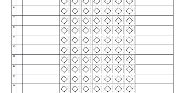 Stats Spreadsheet Throughout Example Of Softball Stats Spreadsheet Score Sheet Template Design