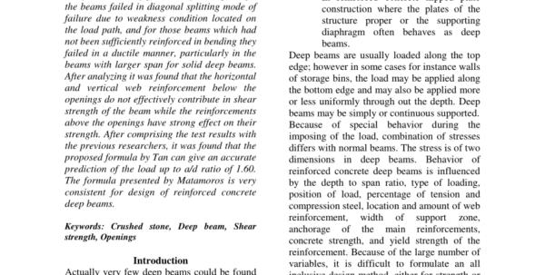 Steel Beam Web Opening Spreadsheet For Consistent Strutandtie Modeling Of Deep Beams With Web Openings