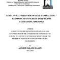 Steel Beam Web Opening Spreadsheet Intended For Consistent Strutandtie Modeling Of Deep Beams With Web Openings