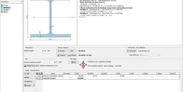 Steel Beam Web Opening Spreadsheet Throughout Steel Fire  Structural Software Fin Ec  Fine