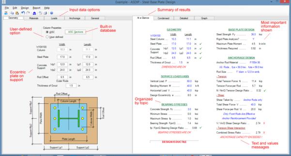 Steel Column Design Spreadsheet Pertaining To Steel Beam, Column, Plate, Anchor, Connection Software  Asdip Steel
