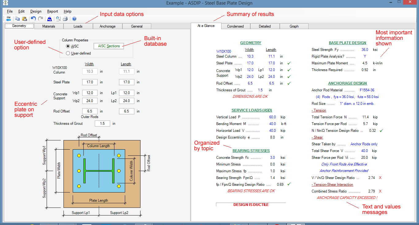 Steel Column Design Spreadsheet Pertaining To Steel Beam, Column, Plate, Anchor, Connection Software  Asdip Steel