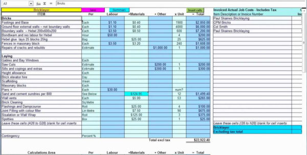 Steel Fabrication Estimating Spreadsheet Intended For Steel Estimating Spreadsheet Structural Free Spreadsheets