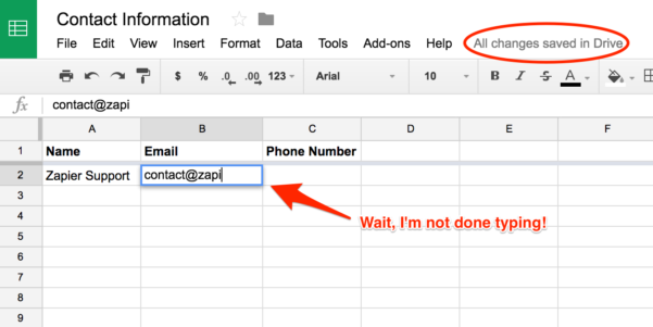 Step Challenge Spreadsheet Inside Common Problems With Google Sheets On Zapier  Integration Help