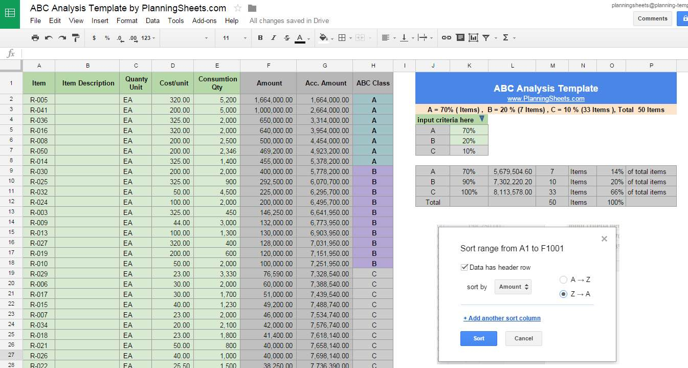stock analysis spreadsheet excel template google