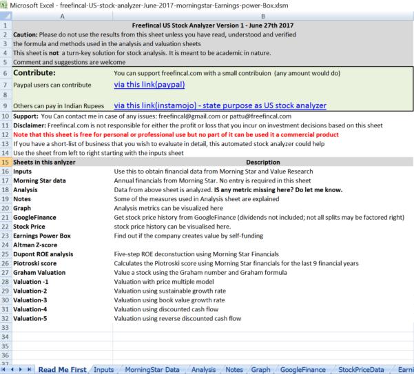Stock Analysis Spreadsheet Intended For Stock Analysis Spreadsheet For U.s. Stocks: Free Download