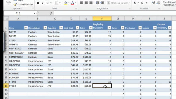 Stock Check Spreadsheet In Inventory Management In Excel Free Download