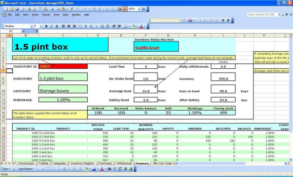 Stock Control Excel Spreadsheet Template Inside Sample Of Inventory System In Excel And Sample Inventory Control