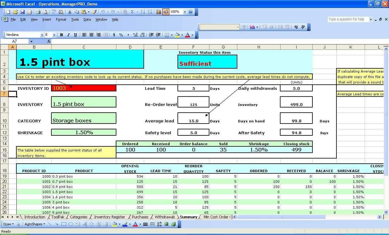 stock control excel spreadsheet template spreadsheet