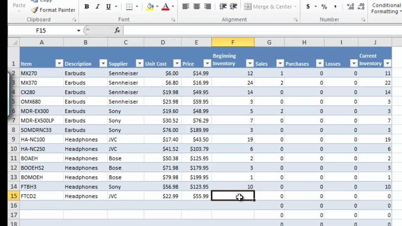 Stock Control Excel Spreadsheet Template Spreadsheet ...