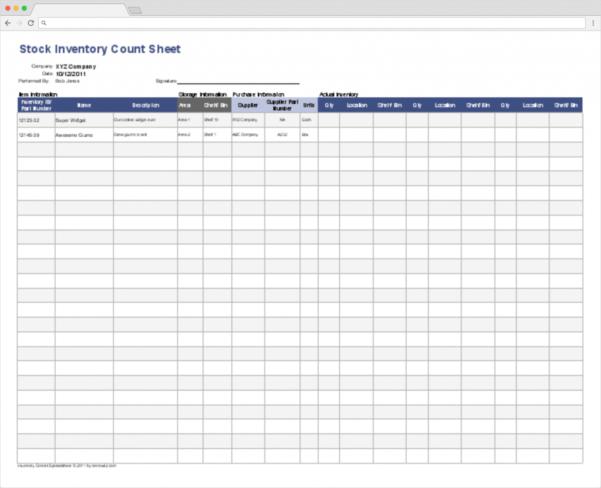Stock Control Spreadsheet Regarding Top 10 Inventory Tracking Excel Templates · Blog Sheetgo