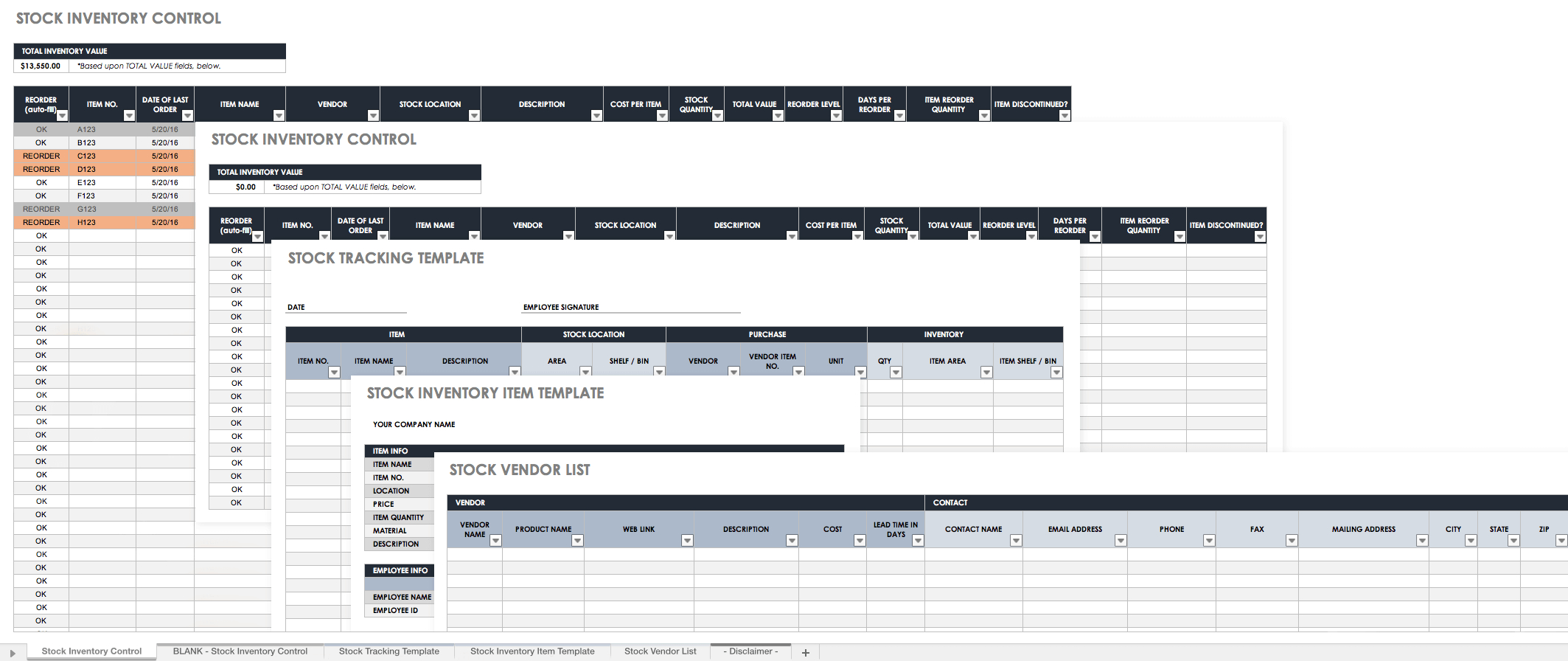 Stock Inventory Spreadsheet In Free Excel Inventory Templates