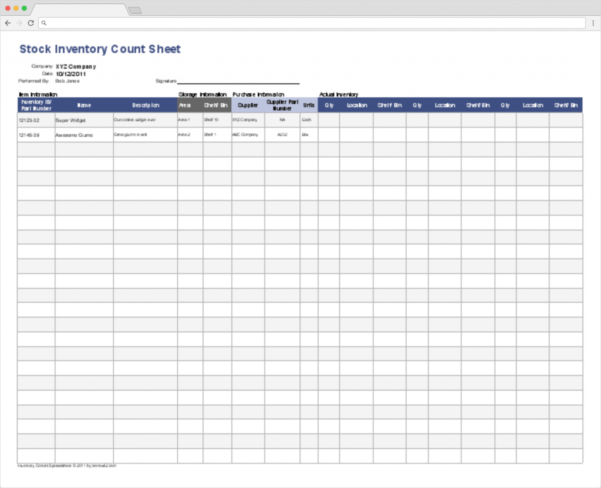 Stock Inventory Spreadsheet Pertaining To Top 10 Inventory Tracking Excel Templates · Blog Sheetgo