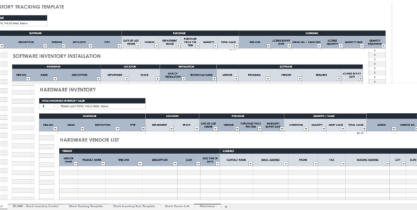 Stock Inventory Spreadsheet Within Free Excel Inventory Templates
