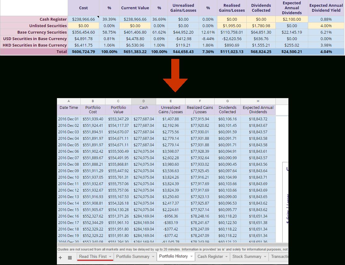 Stock Investment Spreadsheet For Free Online Investment Stock Portfolio Tracker Spreadsheet