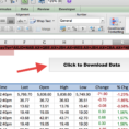 Stock Market Excel Spreadsheet Free Download Regarding How To Import Share Price Data Into Excel  Market Index