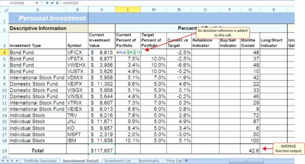 Stock Portfolio Spreadsheet Regarding Sample Portfolio Investment Valid Sample Stock Portfolio Spreadsheet