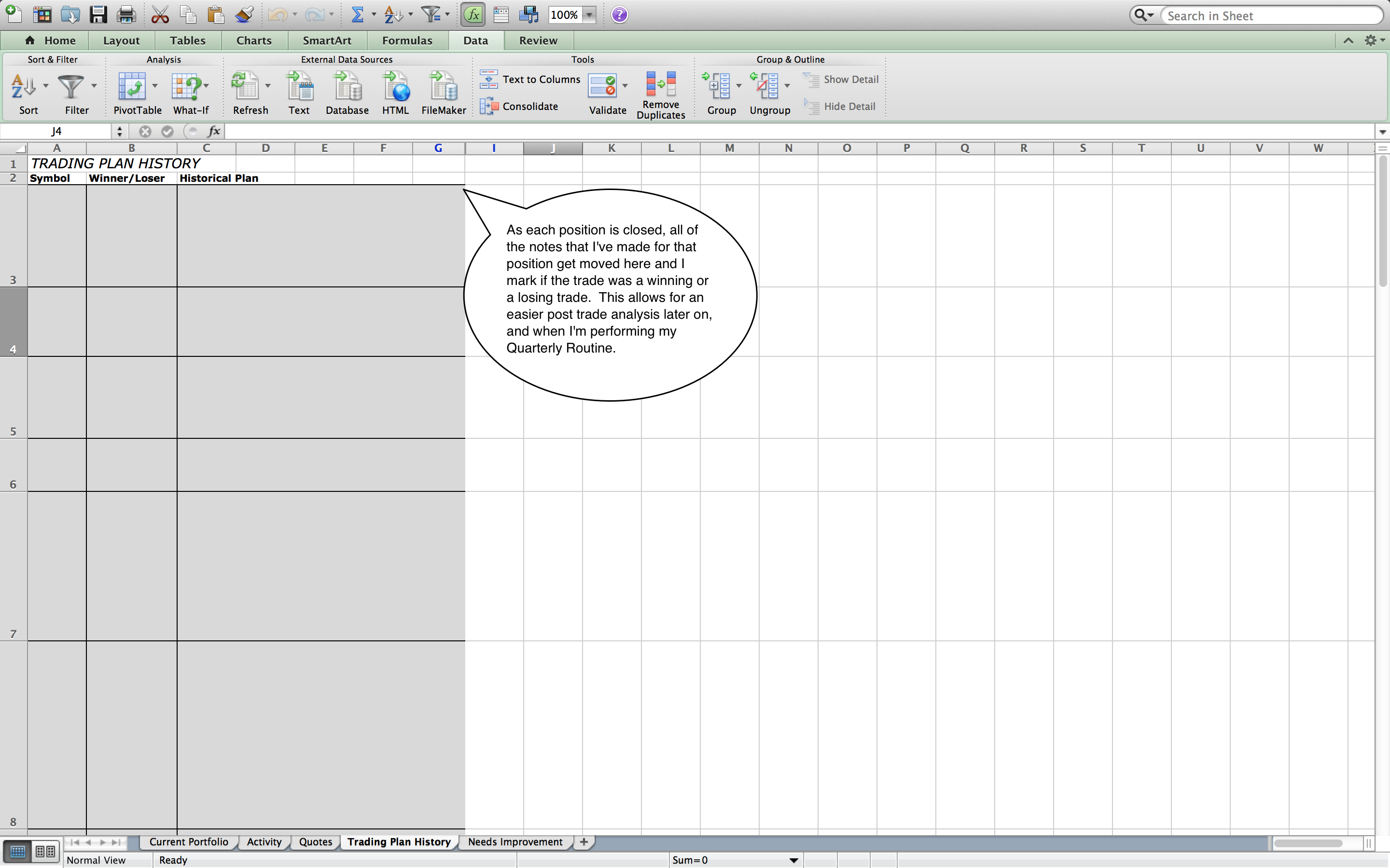 Stock Trading Log Excel Spreadsheet With Regard To How To Create Your Own Trading Journal In Excel