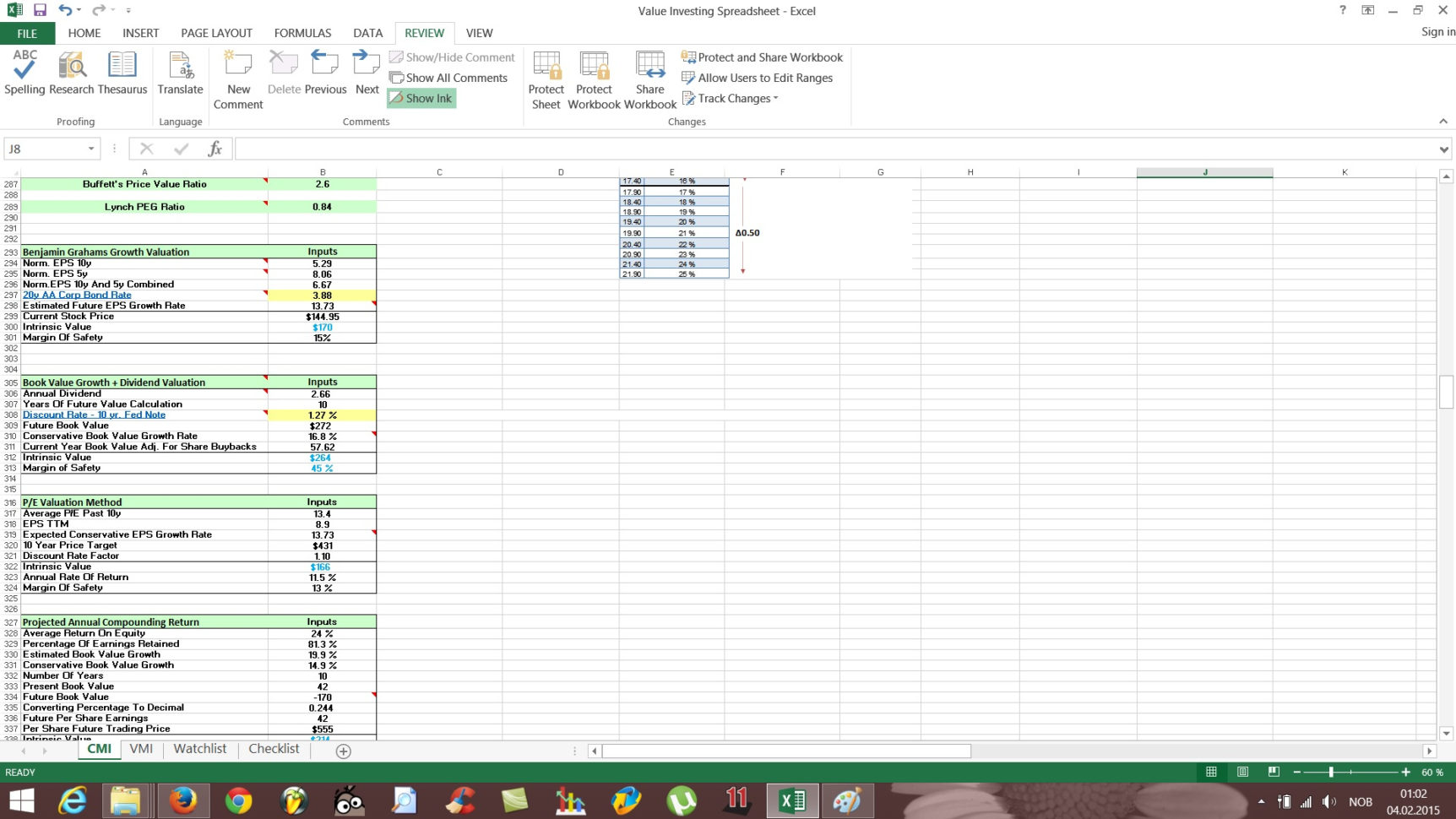 Stock Valuation Spreadsheet Throughout Free Value Investing Stock Spreadsheet