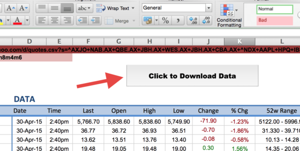Stock Valuation Spreadsheet With Regard To How To Import Share Price Data Into Excel  Market Index Stock Valuation Spreadsheet Google Spreadsheet