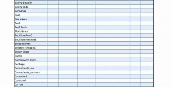 Stocktake Template Spreadsheet Free Within Restaurant Inventory Spreadsheet Download Food Idea Of Free Template