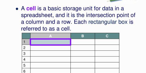 Storage Unit Spreadsheet In Basic Spreadsheet Formulas  Ppt Download
