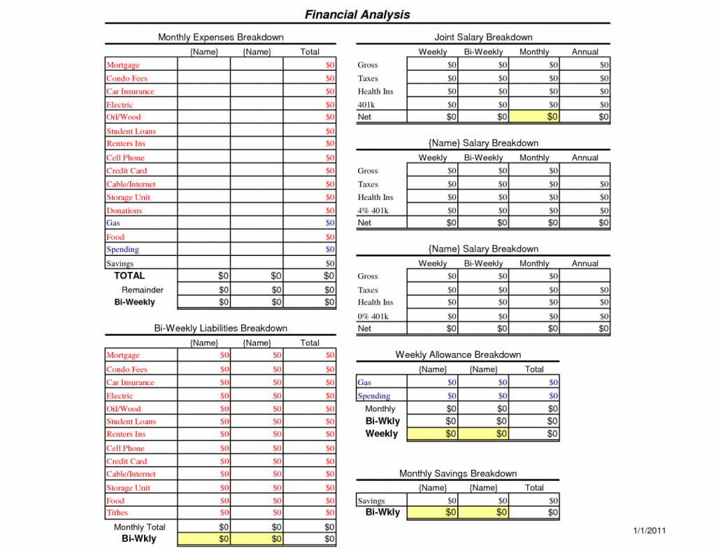 Storage Unit Spreadsheet Throughout Sample Home Budget Worksheet Example Of Easy Templates Household