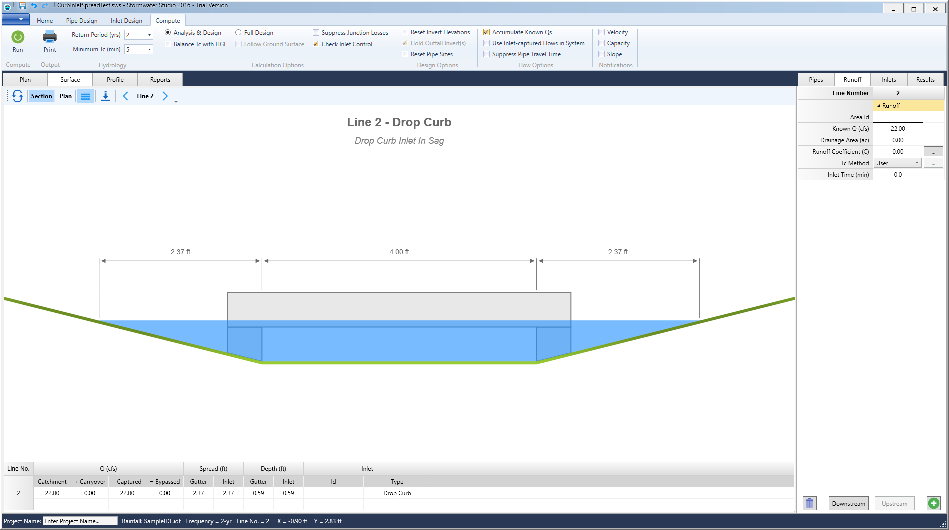 Storm Drain Pipe Sizing Spreadsheet In Storm Sewer Design Software  Stormwater Modeling  Stormwater Studio