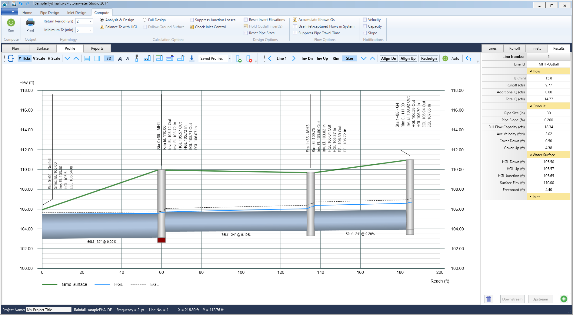 Stormwater Pipe Design Spreadsheet With Regard To Storm Sewer Design Software  Stormwater Modeling  Stormwater Studio