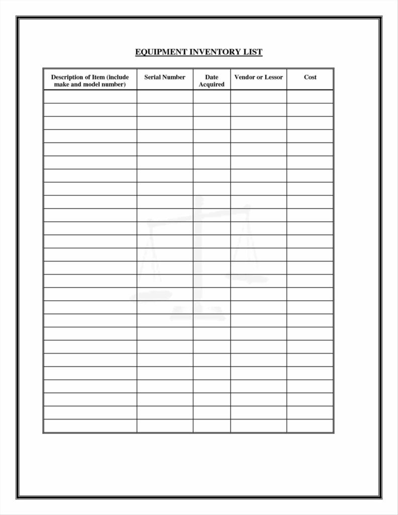 Street Sign Inventory Spreadsheet In Sample Inventory Sheet For Restaurant And Freewordtemplatesnet Part