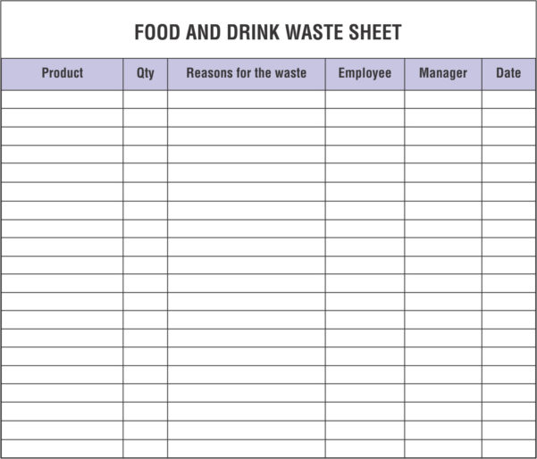Street Sign Inventory Spreadsheet With Regard To Restaurant Inventory Spreadsheets That You Must Maintain And Monitor