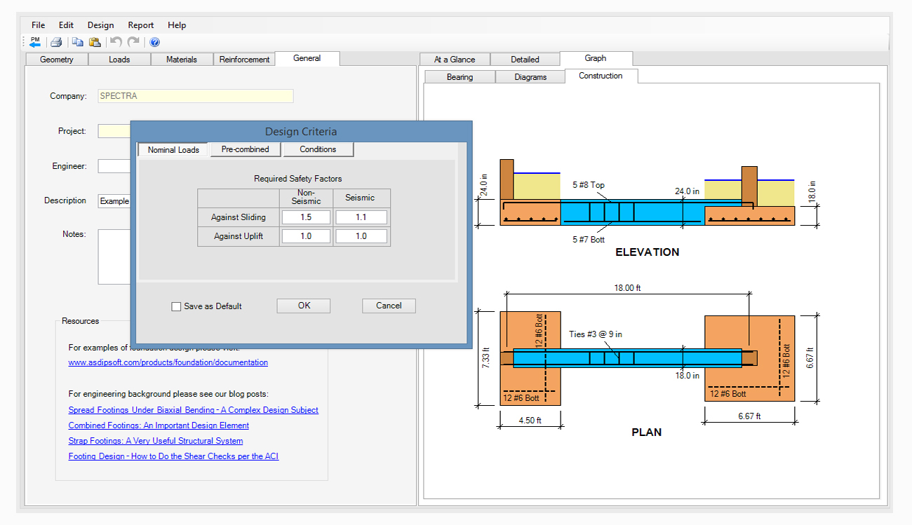 Strip Footing Design Spreadsheet For Spread, Combined, Strap Footing Design Software  Asdip Foundation