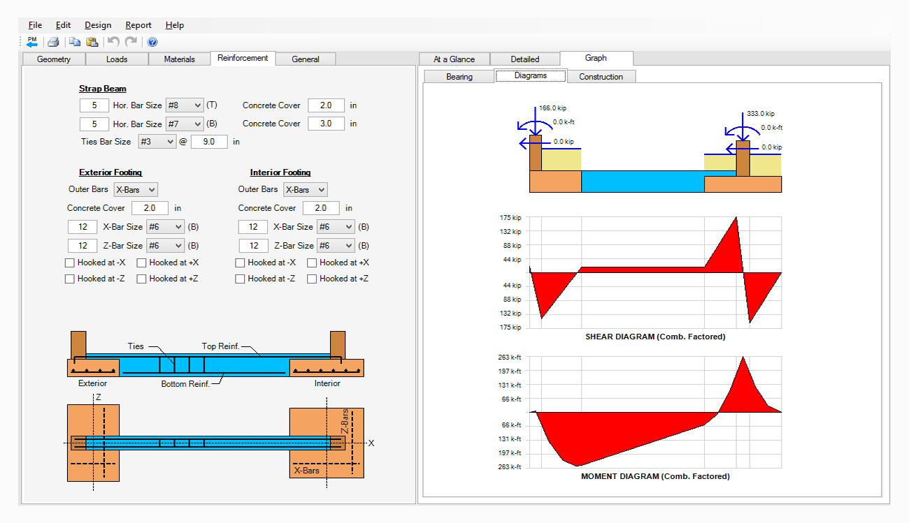 Strip Footing Design Spreadsheet Intended For Spread, Combined, Strap Footing Design Software  Asdip Foundation