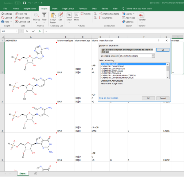 Structural Analysis Excel Spreadsheet For Biovia Insight For Excel
