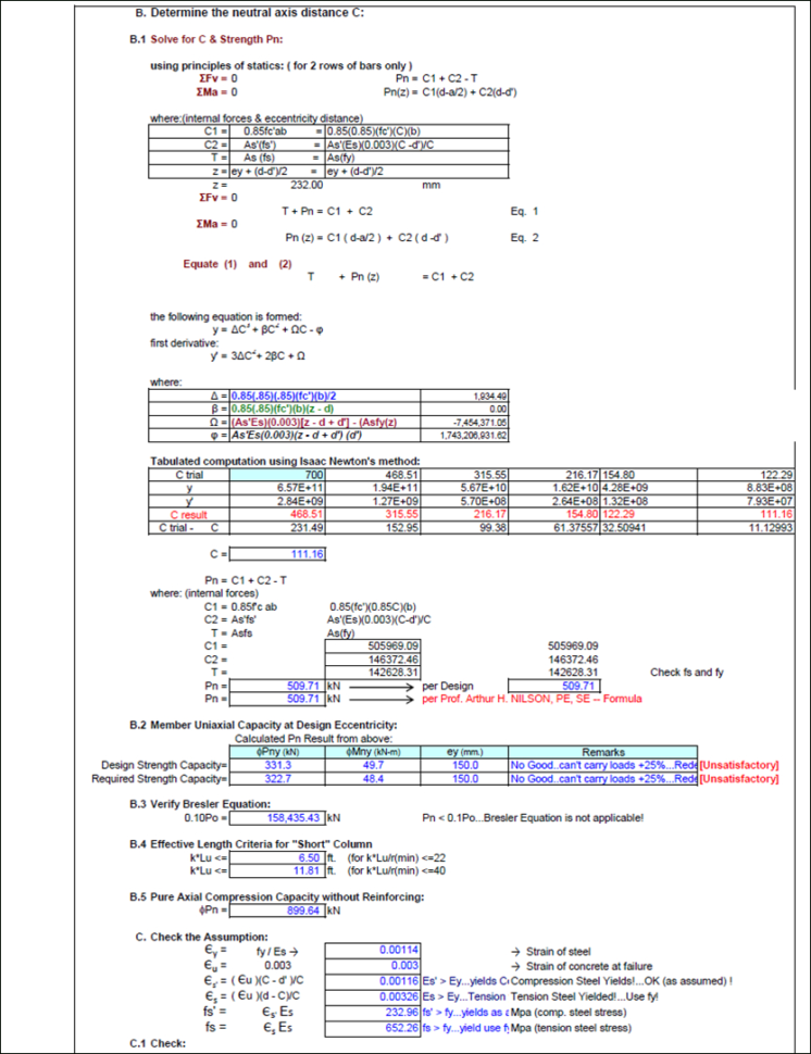 Structural Design Excel Spreadsheets For Reinforced Concrete Design  Engineer's Outlook