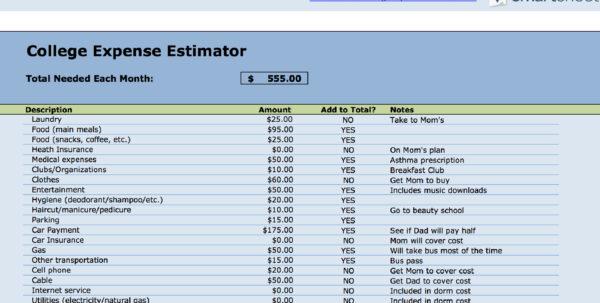Student Budget Planner Spreadsheet Intended For 15 Easytouse Budget Templates  Gobankingrates