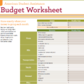 Student Budget Planner Spreadsheet Regarding 9 Useful Budget Worksheets That Are 100% Free