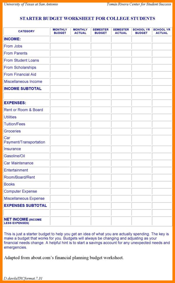 Student Expenses Spreadsheet Regarding 5  Student Finance Budget Spreadsheet  Credit Spreadsheet